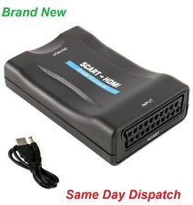 SCART to HDMI Adapter Converter 1080P For TV SKY Box Blu-Ray Player HDTV DVD