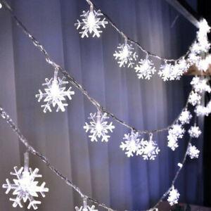 LED Snowflake New Fairy String Window Lights Christmas Wedding Party Decor Lamp