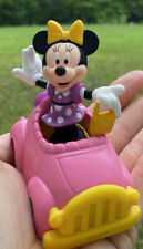 Minnie Mouse With Pink Car Cake Topper Never Used; Birthday Cake Topper