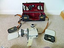 Vintage Agfa Movex Reflex 8mm Movie Camera with Leather Bag and Accessories
