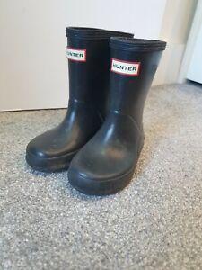Kids Black Hunter Wellies Infant Size 6 Wellington Boots