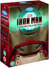 Iron Man 1-3 (Blu-Ray, Box Set)