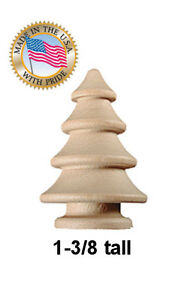 10pcs  1-3/8 Round  wooden CHRISTMAS TREE craft unfinished wood trees