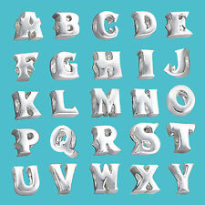 Genuine 925 Sterling Silver Solid Bead Charm Alphabets Initial Letters Bracelet