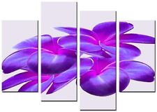 NEW MODERN CANVAS  ART LARGE ABSTRACT 4 PANEL PRINTS PICTURE ORCHID 14 PURPLE