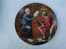 The Professor by Norman Rockwell Cabinet Plate - Box + Certificate - Knowles
