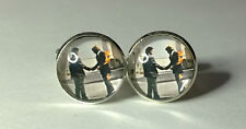 Pink Floyd's Wish you Were Here Album Cover, Retro Rock Cufflinks