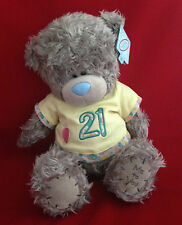 "ME TO YOU BEAR TATTY TEDDY 12"" HAPPY BIRTHDAY YELLOW T-SHIRT 21ST BEAR GIFT"
