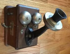 Large Antique Wall Mount Eastern Mfg. Company Telephone for parts