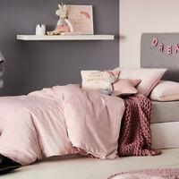 Adairs Kids Magic Night Velvet Pink Double Quilt Cover Set BNIB RRP $159.99