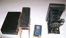 Kodak Vest Pocket Hawk-Eye Camera with Original Box; Antique Folding Bellows