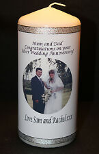 Personalised Photo Candle Silver Wedding  Anniversary | Cellini Candles  #1