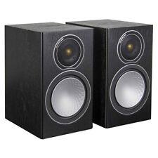 Monitor Audio Silver 1 Black Oak Bookshelf Speakers (Pair)