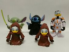 Disney Parks Star Tours Stitch As Yoda & Palpatine Donald& Kids Lot Star Wars