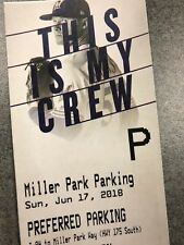 Preferred Parking 6/17 Brewers v Phillies Miller Park