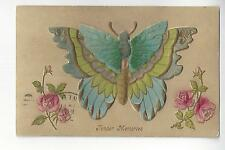 Embossed Butterfly Postcard With Felt Add-On