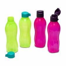 Tupperware Aquasafe Plastic Fliptop and Normal Cap Water Bottle 500ml 4 Pcs
