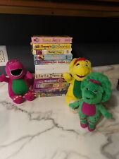 Lot of 12 HTF Barney the Dinosaur VHS Manners Santa Halloween Senses Songs
