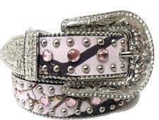Nocona Western Girls Kids Belt Mossy Oak Rhinestones Pink N4428230