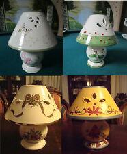 Lenox Candleholder Table Lamp Votive Candle Christmas Metal Bracket