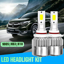 1Pair 9005 HB3 LED Headlight High Beam for Honda Pilot 2006-2018 CR-V 2004-2018