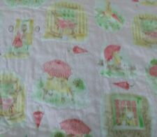 Twin Pink Umbrella Girl Quilt