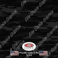 """Traditional Black CAMO DECAL 3M WRAP VINYL 52""""x15"""" TRUCK PRINT REAL CAMOUFLAGE"""