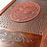 Watlux Backgammon Set Luxury American Eagle Wooden Wood Large Game Pieces Board
