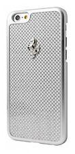 Ferrari Official GT iPhone 6 6S Plus Silver Frame White Carbon Fiber Hard Case