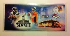 Superbowl 48 Envelope/Cache, R. Wilson / P. Manning, NY/NJ Broncos / Seahawks