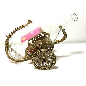 Vintage Chariot of Gold Wine Bottle Holder