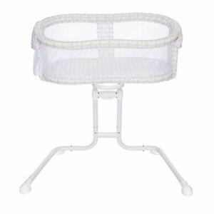HALO Bassinest Glide Sleeper Bedside Bassinet Adjustable Mosaic w/ Mattress