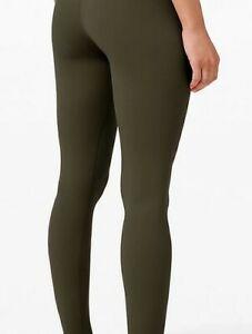 """100% new lululemon oliver green align yoga high rise leggings usaw4 28"""""""