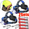 Rechargeable Tactical 90000LM T6 LED Headlamp 18650 Headlight Head Torch Light-