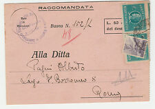 STORIA POSTALE 1948 REP. COPPIA L.1+6 DEMOCRATICA USATI SU CARTOLINA Z/1347
