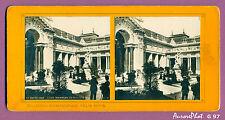 VUE STÉRÉO EXPO UNIVERSELLE 1900 PARIS : COUR INTÉRIEURE DU PETIT PALAIS-G97