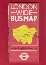 Bus Map ~ LRT London Wide - Including List of Routes - Winter 1985 Colibri Press