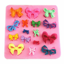 16 Bow Silicone Icing Mould Baking Chocolate Cake Topping  Sugar craft Fondant