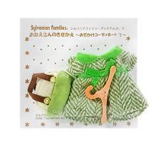Sylvanian Families Calico Critters Green Tweed Dress & Handbag