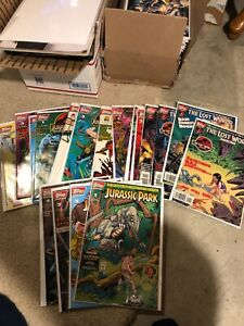 Complete Sets Topps Jurassic Park 5 Mini-Series + Annual 18 comics total