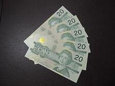 1991 $20 DOLLAR BILL BANK NOTE CANADA BONIN-THIESSEN AVH GEM UNC CONSECUTIVE