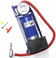 New Foot Air Pump Tyre Inflater Tire Air Bed Bike Ball Pressure Gauge Air Pump.