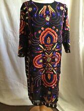 Sublime robe ANTIK BATIK brodée séquins taille L plutôt 38 NEUVE valeur 330 €.
