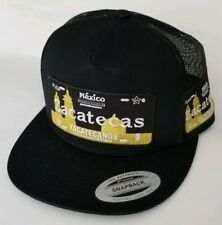 ZACATECAS  MEXICO HAT MESH TRUCKER BLACK    SNAP BACK ADJUSTABLE  NEW