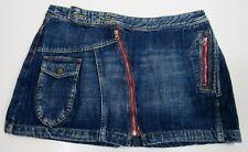 Miss Lee Zipper Denim Jean Skirt Size 30 Women's Medium Wash Blue