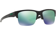 Oakley Thinlink Sunglasses OO9316-09 Matte Black Frame W/ Jade Iridium Lens