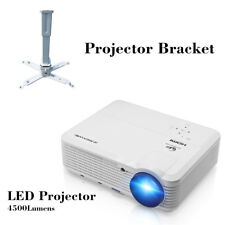 HD LED Home Theater Projector Movie Backyard Night HD 1080p HDMI+Projector Stand