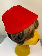 Vintage 50s Red Felt Hat