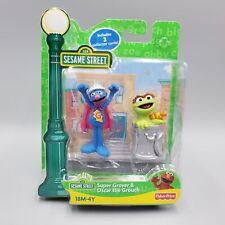 Super Grover Oscar Slimey Figure w/cards Sesame Street