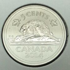 2014 Canada Specimen Five 5 Cents Nickel Canadian Uncirculated Coin B967